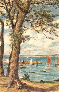 le port de douarnenez vu des plomarch by paul abram