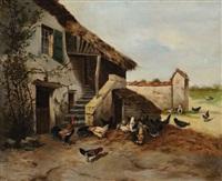 scène de basse coure by philibert-leon couturier