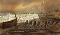 recogiendo las barcas y recogiendo las redes (pair) by emilio millan ferriz