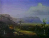 a greek landscape by eduard metzger