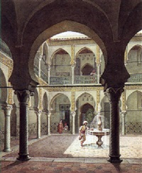 patio d'une maison mauresque algéroise by william moritz