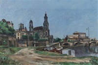 elbufer mit hofkirche by richard miller