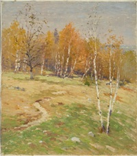 autumn landscape by willard leroy metcalf