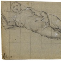 study of a nude woman by domenico tintoretto