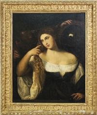 donna allo specchio by titian (tiziano vecelli)