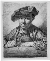 selbstporträt georg friedrich schmidt (zeichnend) by georg friedrich schmidt