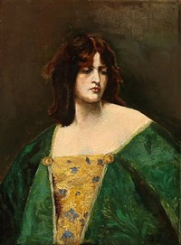 portrait of countess stampe by julius paulsen