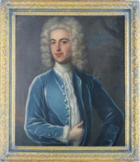 portrait of a gentleman in a blue coat by william aikman