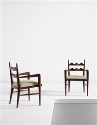 "pair of ""ondulation"" armchairs by jean royère"