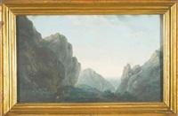 paesaggio animato da figure by italian school-piedmont (19)