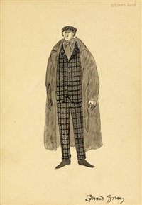 costume design for jonathan harker, dracula by edward gorey