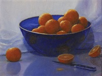 still life with clementines (study) by peter tysver