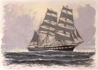 le trois-mats barque `belem' by georges fouille