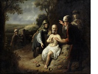 job with his wife and other figures by jacob van spreeuwen