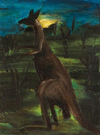 kangaroo by albert lee tucker