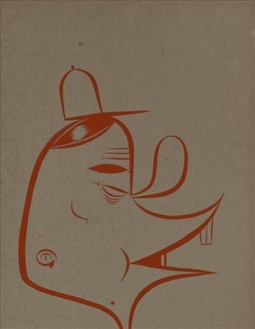 untitled fong head by barry mcghee