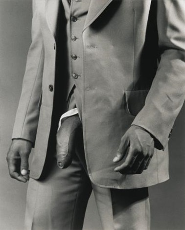 man in a polyester suit by robert mapplethorpe