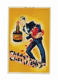 cherry maurice chevalier; a companion poster (2 works) by roger de valerio