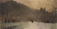 skating by winslow homer