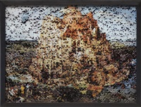 tower of babel after pieter brueghel (gordian puzzles) by vik muniz