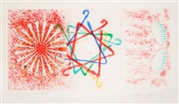 number, wheel, dinner, triangle by james rosenquist