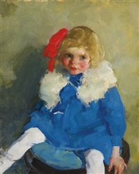 jane wearing a red ribbon by martha walter