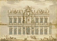 a design for an apparatus (festa della chinea of 1766?) by paolo posi