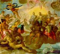 vénus dans l'olympe demandant à jupiter la déification d'enée by christoph gertner