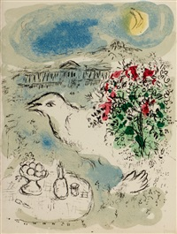 menu de gala by marc chagall