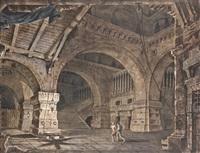 scène avec un prisonnier à l'intérieur d'un bâtiment by giacomo quarenghi