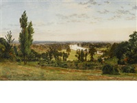 view of richmond hill by jasper francis cropsey