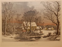 winter in the country by nathaniel currier