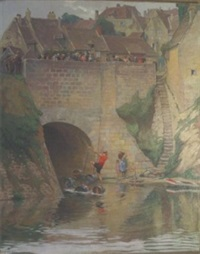la fête du 14 juillet sur le pont by étienne-auguste krier