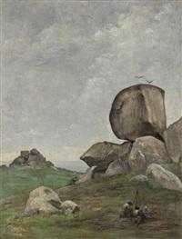 les roches en bretagne by edmond françois aman-jean