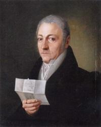 portrait des nürnberger kaufmannes benedict schwarz mit geöffnetem brief by franz xaver von meixner