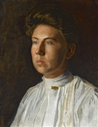 portrait of rebecca macdowell (mrs. j. randolph garrett) by thomas eakins
