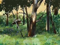 ibis in the gully by albert lee tucker