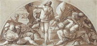 the resurrection (study for a fresco in the appartemento dogale, palazzo ducale, venice) by giuseppe (salviati) porta