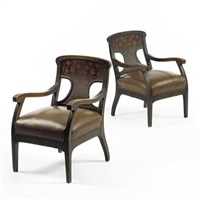 pair of armchairs by gaspar homar