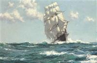 sea beauty - the tea clipper 'wild ranger by montague dawson
