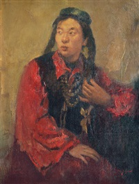 portrait of a maidern by lee man fong