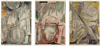 voice 2 (set of 3) by jasper johns