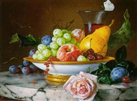 nature morte aux fruits by andre bachirov