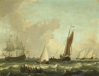 dutch shipping in choppy seas by adam silo