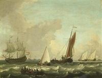 dutch shipping in choppy seas by adam silo