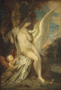 léda, le cygne, et l'amour by gustave moreau