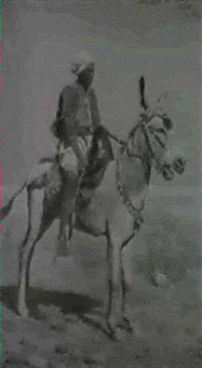 an arab boy on a donkey by silvestro valeri