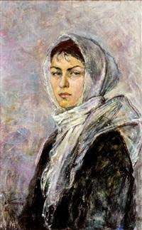 retrato de dama by lev bogomoletz