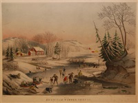 american winter scene by nathaniel currier