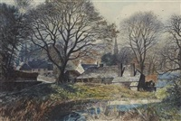 glamis village from the river by james mcintosh patrick